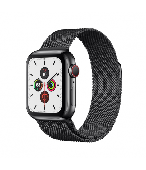 Apple Watch Series 5 40mm GPS+Cellular Space Black Stainless Steel Case with Milanese Loop