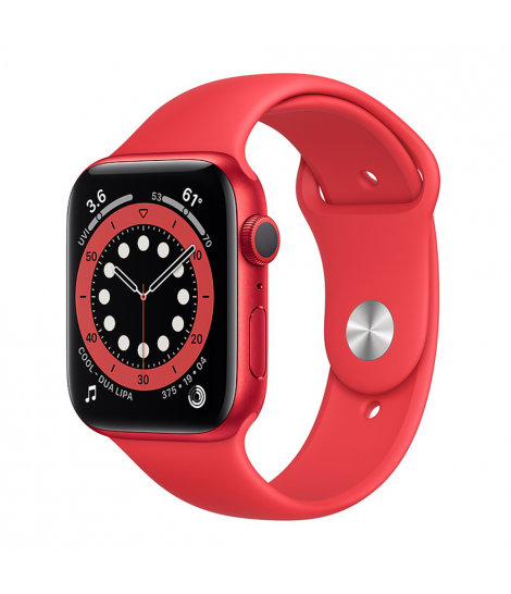 Apple Watch Series 6 44mm GPS PRODUCT(RED) Aluminum Case with Red Sport Band