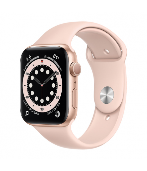 Apple Watch Series 6 44mm GPS Gold Aluminum Case with Pink Sand Sport Band