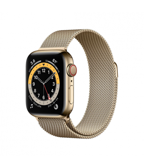 Apple Watch Series 6 40mm GPS+ Cellular Gold Stainless Steel with Milanese Loop