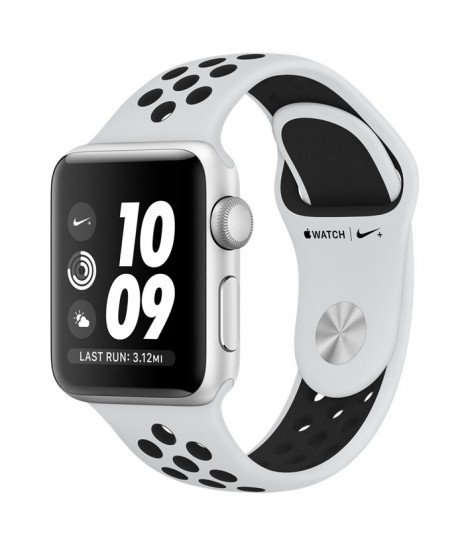 Apple Watch Series 3 Nike+ 38mm GPS Silver Aluminum Case with Pure Platinum/Black Nike Sport Band