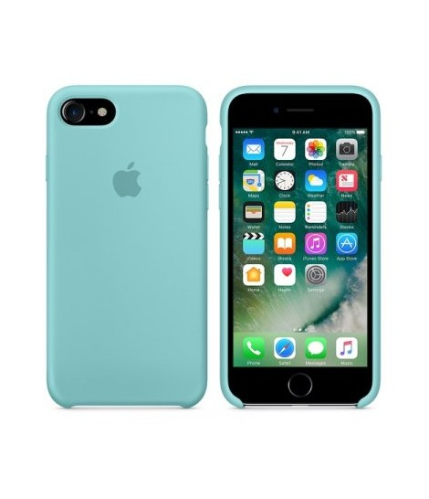 Чехол Apple Silicone Case iPhone 7/8 Sea Blue