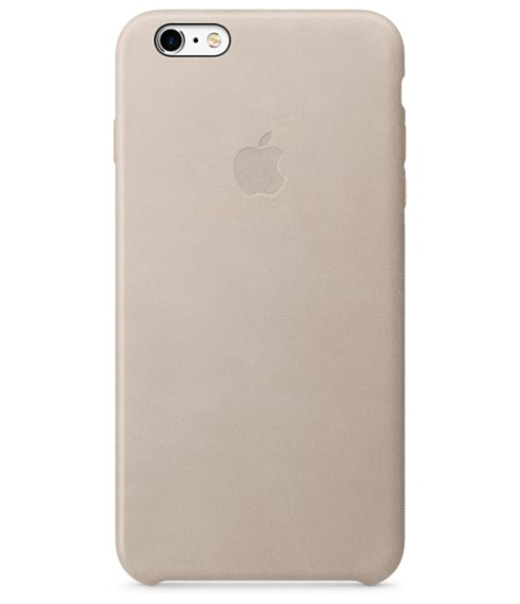 Чехол Apple Leather Case для iPhone 6 Plus/6s Plus, Stone
