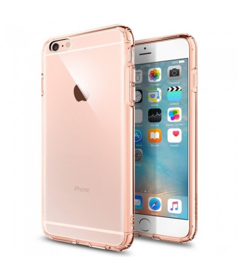 Чехол Spigen для iPhone 6S/6 Plus Ultra Hybrid Кристально-розовый