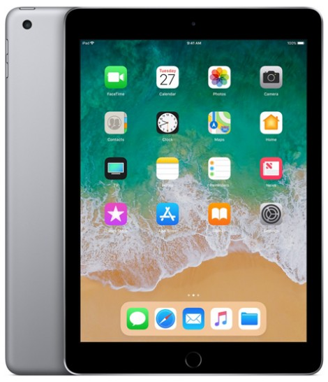 "iPad 9,7"" Wi-Fi 128 GB Space Gray 2018 MR7J2"