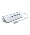 USB-хаб Satechi, Type-C Aluminum, USB 3.0 & Card Reader, Silver