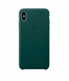 Чехол Apple Leather Case для iPhone XS Max, Forest Green