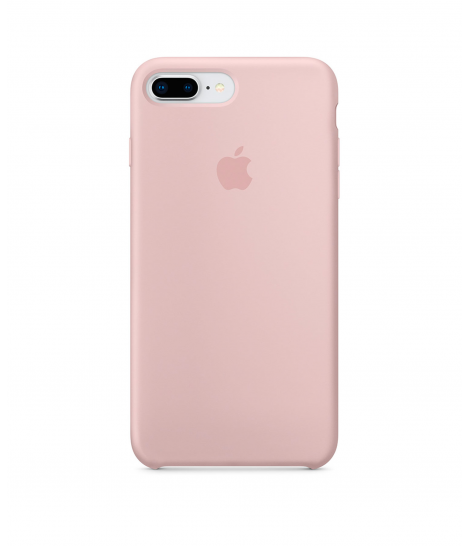 Apple Silicone Case для iPhone 8 Plus / 7 Plus, Pink Sand