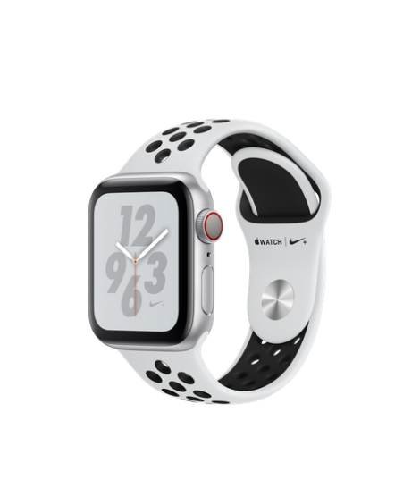 Apple Watch Series 4 Nike+ 40mm GPS + Cellular Silver Aluminum Case with  Pure Platinum/Black Nike Sport Band
